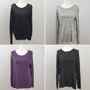 Bundle of 4 Merona Long Sleeve Shirts
